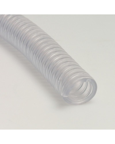 "Furtun transparent din PVC/spira din otel 1""-25mm x 50m"