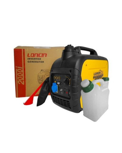 Generator electric portabil Loncin LC 2000i tip inverter 1.8 kW monofazat 4 CP + canistra 1l AgroPro