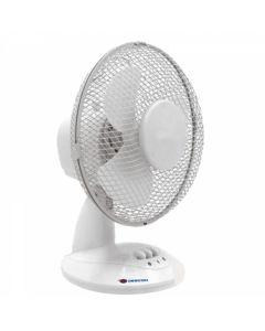 Ventilator de birou DEDRA 9 inch alb