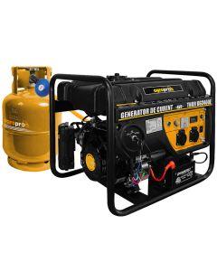 Generator profesional LPG + Benzina AgroPro THOR GG 3400E 3 KVA 2 moduri de pornire AVR automat 7CP monofazat Butelia nu este inclusa