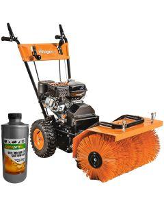 Utilaj multifunctional Villager VSS 60 putere motor 4.1 kW 7 viteze accesoriu pentru maturat 60 cm 1l ulei AgroPro