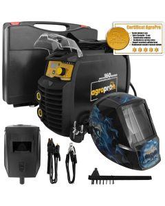 Aparat de sudura AgroPro MMA 160 Magnum + 1x Lanterna Led magnetica AgroPro + Cutie transport + 3 ani garantie