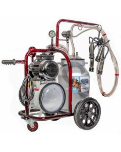 Specificatii tehnice Numar posturi : 1 Numar bidoane: 1 Capacitate bidon: 40 L Capacitate mulgere/ora :  10/12 Capacitate pahar colector: 240cc Tipul pulsatorului: pneumatic 60/40 Numar pulsatoare: 1 Putere motor:0.55 kw Voltaj: 220V-50HZ Debit/minut: 180