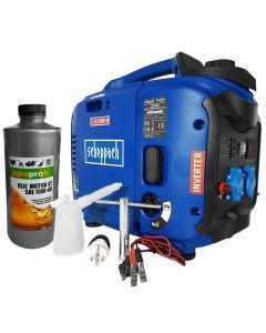 Generator portabil Profesional Scheppach SG2000 Invertor digital 2kW carcasa insonorizata sistem automat de accelerare + 1l ulei motor AgroPro