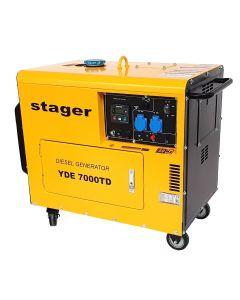 Generator cu automatizare YA40063 insonorizat Stager YDE7000TD diesel monofazat 4.2kVA 18A 3000rpm