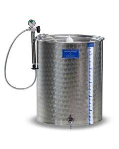 Cisterna inox cu capac flotant cu garnitura Marchisio SPA100B 100L  diametru 384 mm