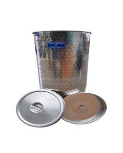 Cisterna inox Marchisio cu capac flotant cu ulei de parafina 500L diametru 790mm inaltime 1100mm