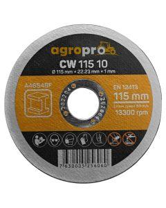 Disc polizor AgroPro CW-115-10 3 bucati 115x1.0 mm