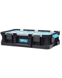 Cutie unelte Dedra N0303 sistem SAS capac policarbonat containere multifunctionale 12