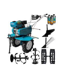 Motosapa DAKARD HS 900 7 CP + roti metalice + plug arat + plug cartofi + Cadou 1l ulei motor+ 2l ulei transmisie AgroPro